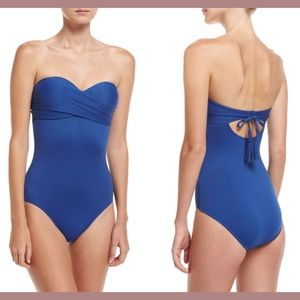NWT Seafolly Wrap Sweetheart Maillot Swimsuit 10